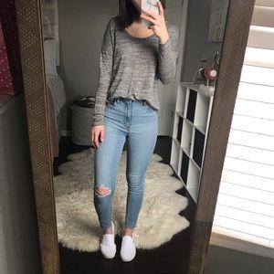 Old Navy Lightweight Gray Sweater